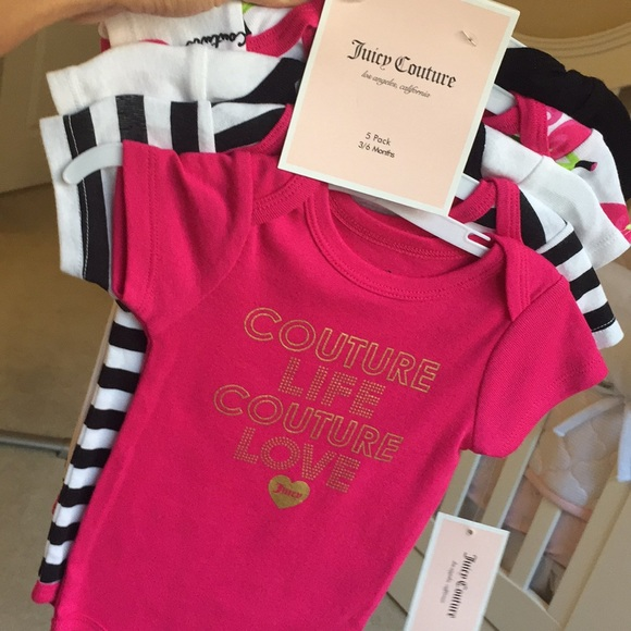 bc41810eb Juicy Couture One Pieces | Brand New 5 Pack Onesies Set 36m | Poshmark